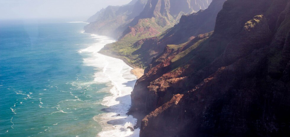 Blue Hawaiian Kauai helicopter tours of Na Pali coast